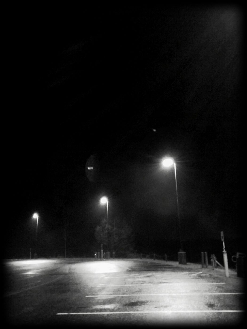 B&w Street Photography Parking Lot Misty Night Photography Local Senic Local Lakes Oklahoma