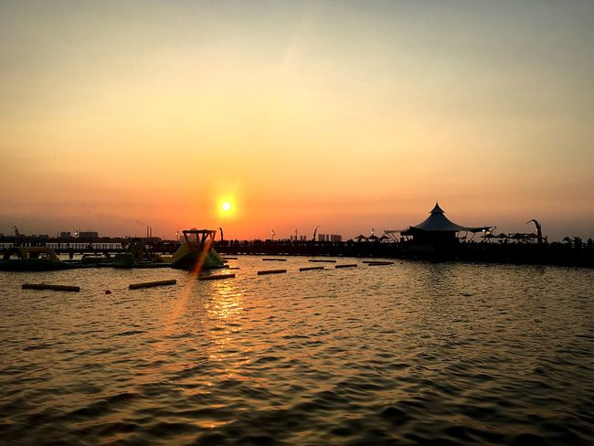 Sunset Water Orange Color Tranquility Tranquil Scene Calm Nature Sea Sky Beauty In Nature Travel Destinations EyeEm From My Point Of View