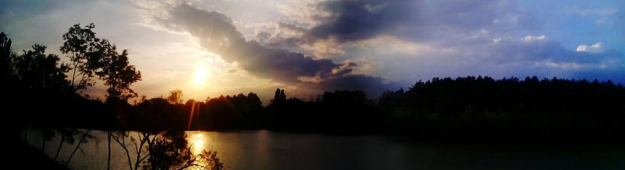 Nature Lake View Sunset