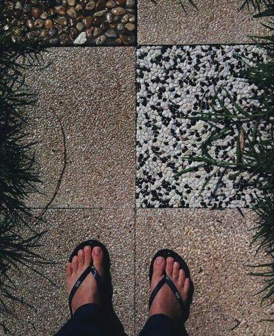 Personal Perspective Standing Human Body Part People Patterns Grass Flipflops Summerdays