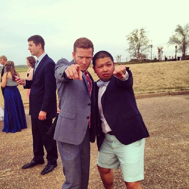 MCM Powermoves Alumstatus @taylorphou The only man in the world who can pull off shorts at a formal.