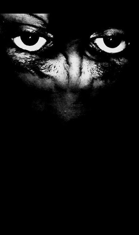 Black And White Eyes Anger