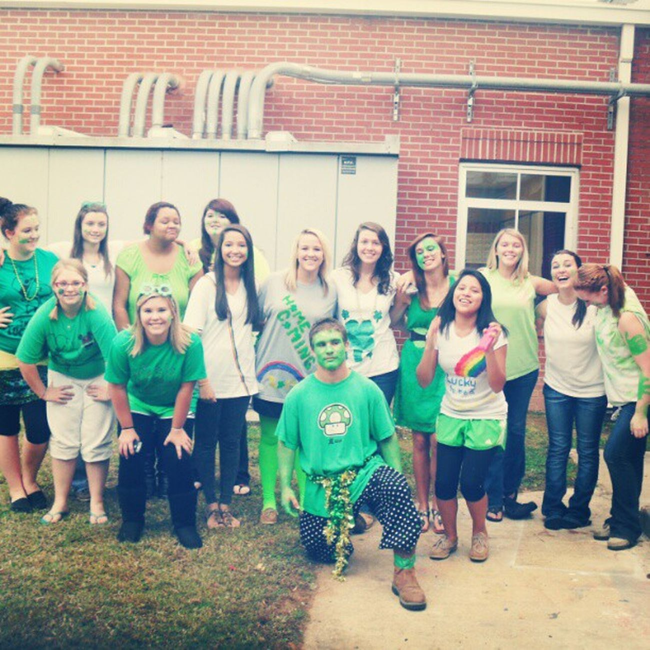 Some of the Sophomores  Homecoming Woooooo Themeday