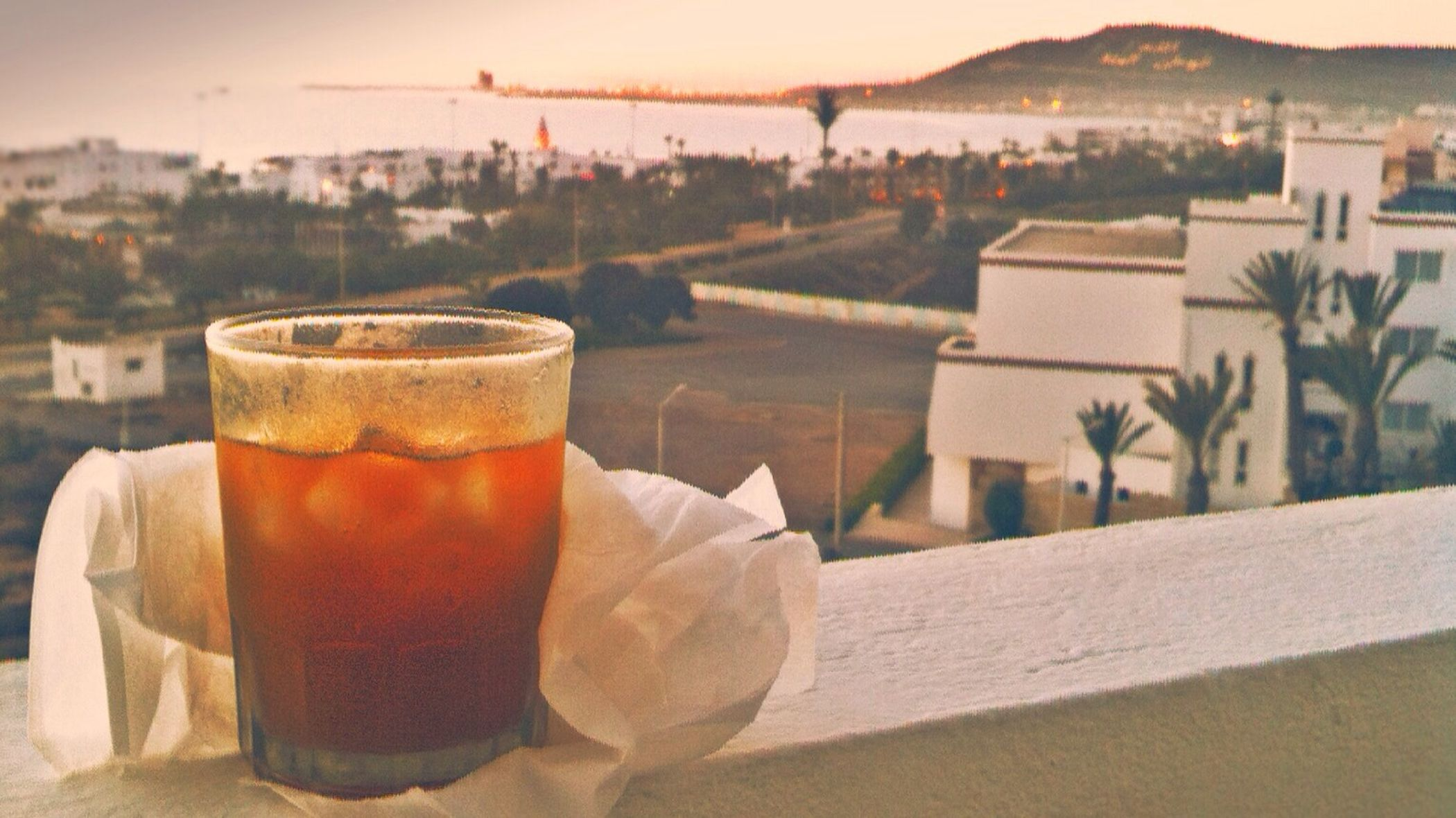 My drink in a beautiful place AGADIR