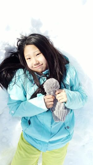 "Child One Person Portrait Girls People Lifestyles One Girl Only Smiling Nature Cheerful Outdoors Day Women One Woman Only Front View Young Women Only Women One Young Woman Only Snow Fabruary Winter Warm Clothing. Beauty Young Adult Beautiful People special photoset ""Happiness in snow"""