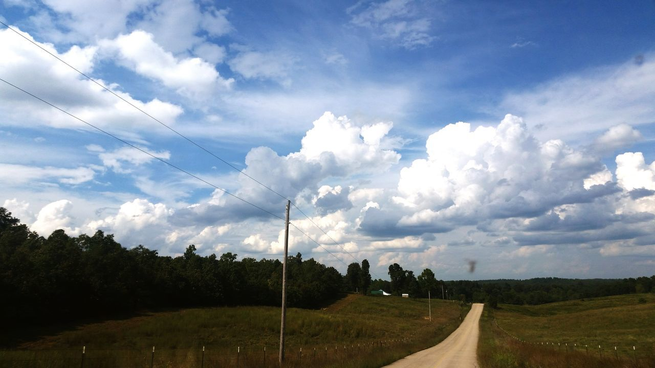 Tranquil Scene Landscape Grass Tranquility Sky Scenics Beauty In Nature Road Field Rural Scene The Way Forward Country Road Cloud - Sky Nature Farm Agriculture Solitude Day Cloud Non-urban Scene Check This Out Beautiful Arkansas Arkansas United States sl