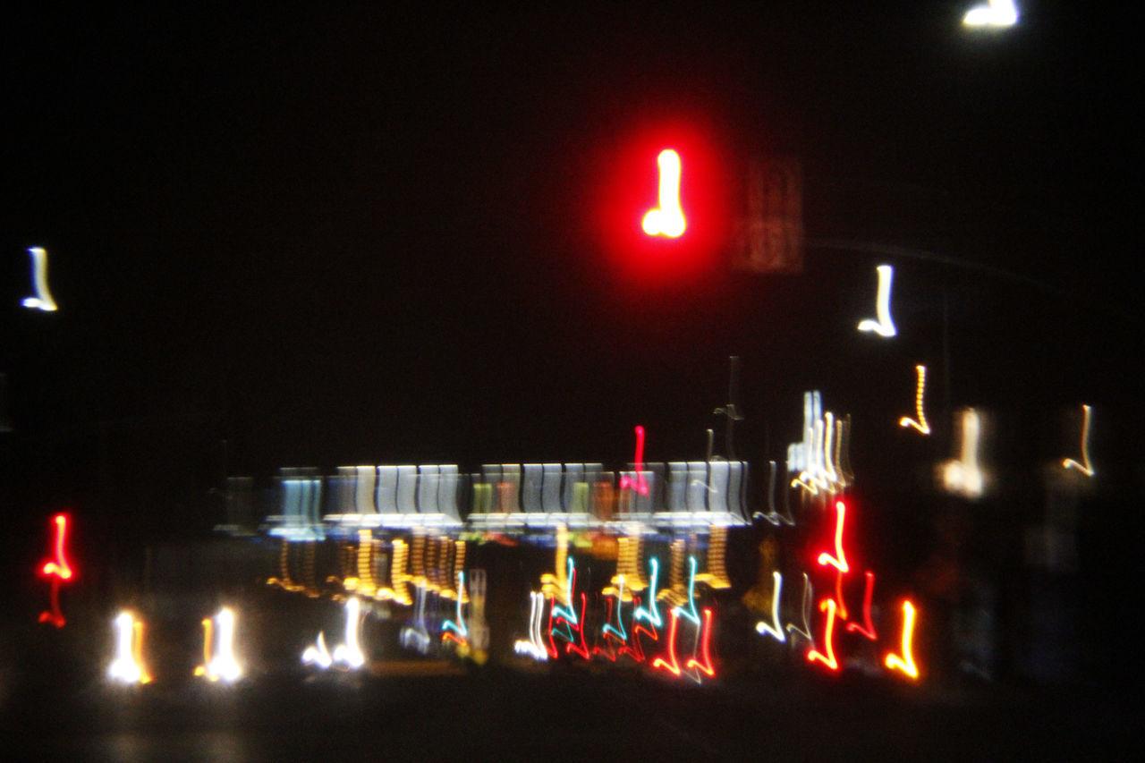 Accident Art Artistic City Dark Experimental Funny Illuminated Joke Laugh Lights Male Night Streaks