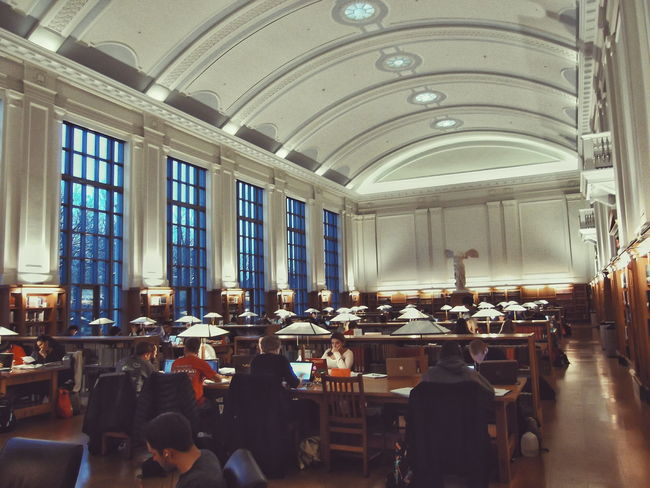 Studying Learning Thompson Library School College The Oval Ohio State University Library Books Grand Reading Room