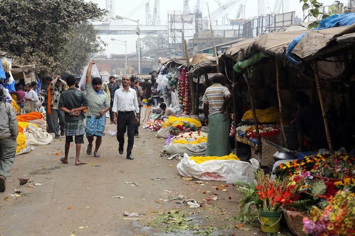 Kolkata flower market Buy Calcutta Color Customer  Flower Garland India Kolkata Market Market Stall Petal Sell Stall Street Vendor
