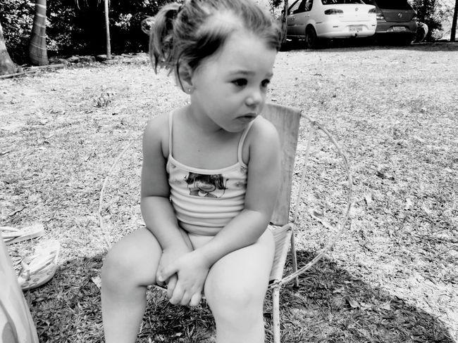 Monochrome Photography Kid Sad Sadlook Grass Innocence Young Umbrella Sun Childhood Cute Day Outdoors Poolday Family Girl