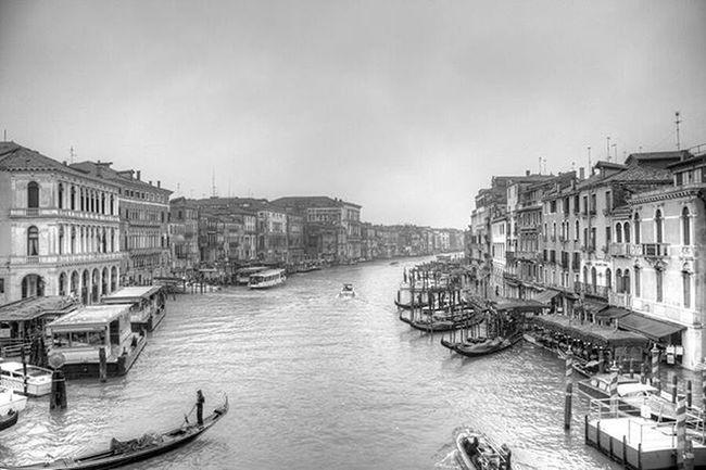 HDR Mono conversion of the Grand Canal in Venice from the Rialto Bridge Venice Grandcanal Rialtobridge HDR Mono