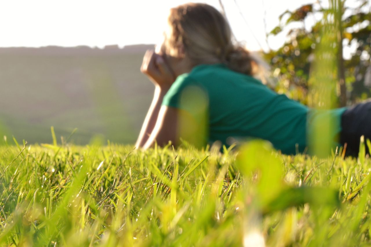 girl on a green field Alone Beautiful Blonde Breakfast Dream Early Evening From Behind Girl Grass Hands On Face Landscape Laying Down Laying In The Grass Light And Shadow Morning Nature Shadows & Lights Spring Sunset Teen Waiting Watching Sunset Woman Yellow