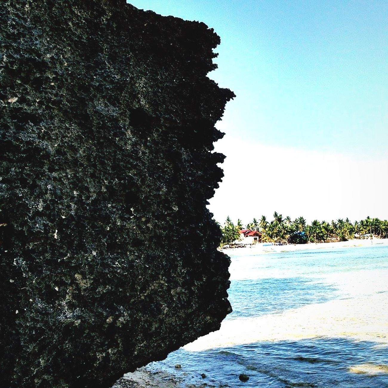 Rock Beach Blue Sky Saltyhair Sand Hello World Enjoying Life