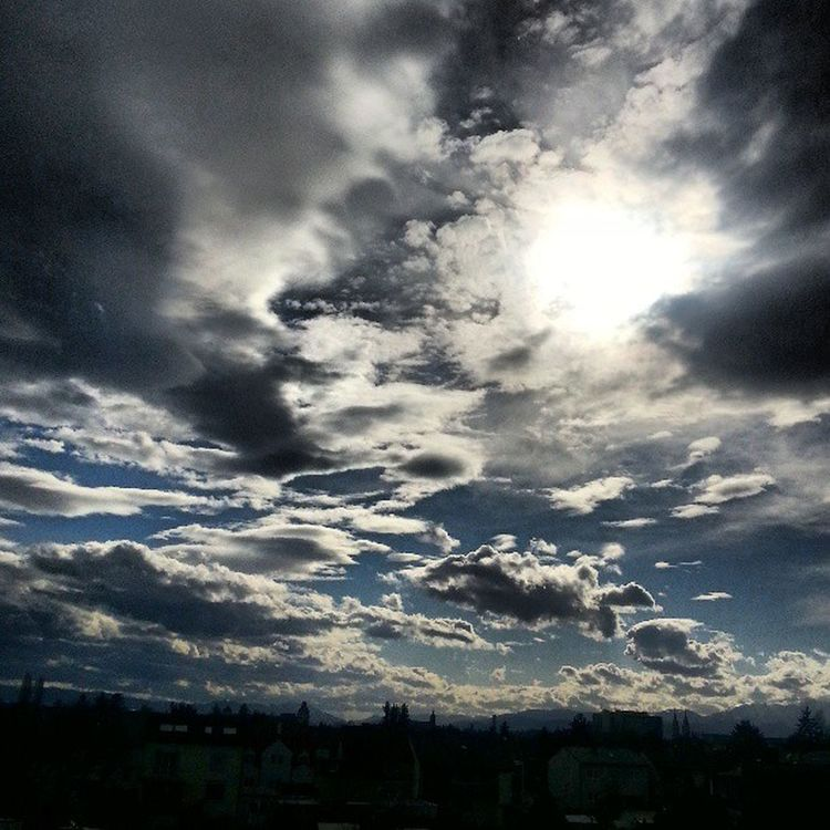 Sky Clouds Sun Breaktrough wienerneustadt austria spring