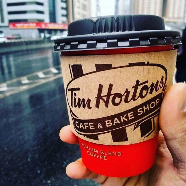 Morning RainyDay Coffee Timhortons Lovingthisclimate