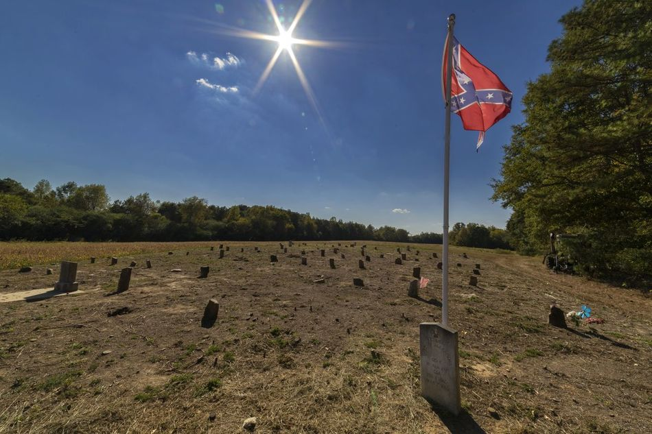 Not a well marked historical site, but the Factory Cemetery is worth the time to find. Civilwarcemetary Cloud Confederate Dead Confederateflag Flag Flag Pole Identity Lens Flare Outdoors Sky Sun Sunbeam Sunlight Symbol Tranquil Scene Tranquility Tree