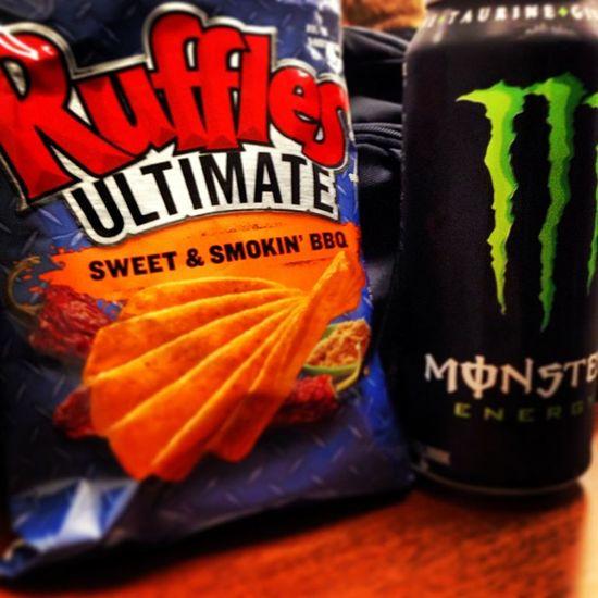 Damn vending machine temptations... Snack Monster Can Vending machine UTI ruffles energy temptation