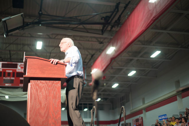 Bernie Sanders Rally on 02.29.2016 America Bernie Sanders Bernie Sanders For Presient Bernie2016 Democrat Election Campaign Election2016 Independent  Millenials Milton High S Politics Relaxing