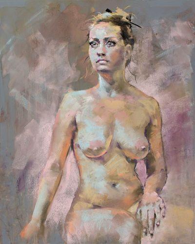 Soft pastel figure Art Drawing Painting Beauty