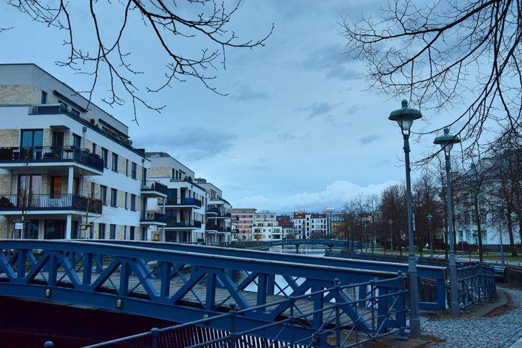 Berlin-Tegel Bridge Bridge - Man Made Structure City Life Cityscape Evening Modern Riverside