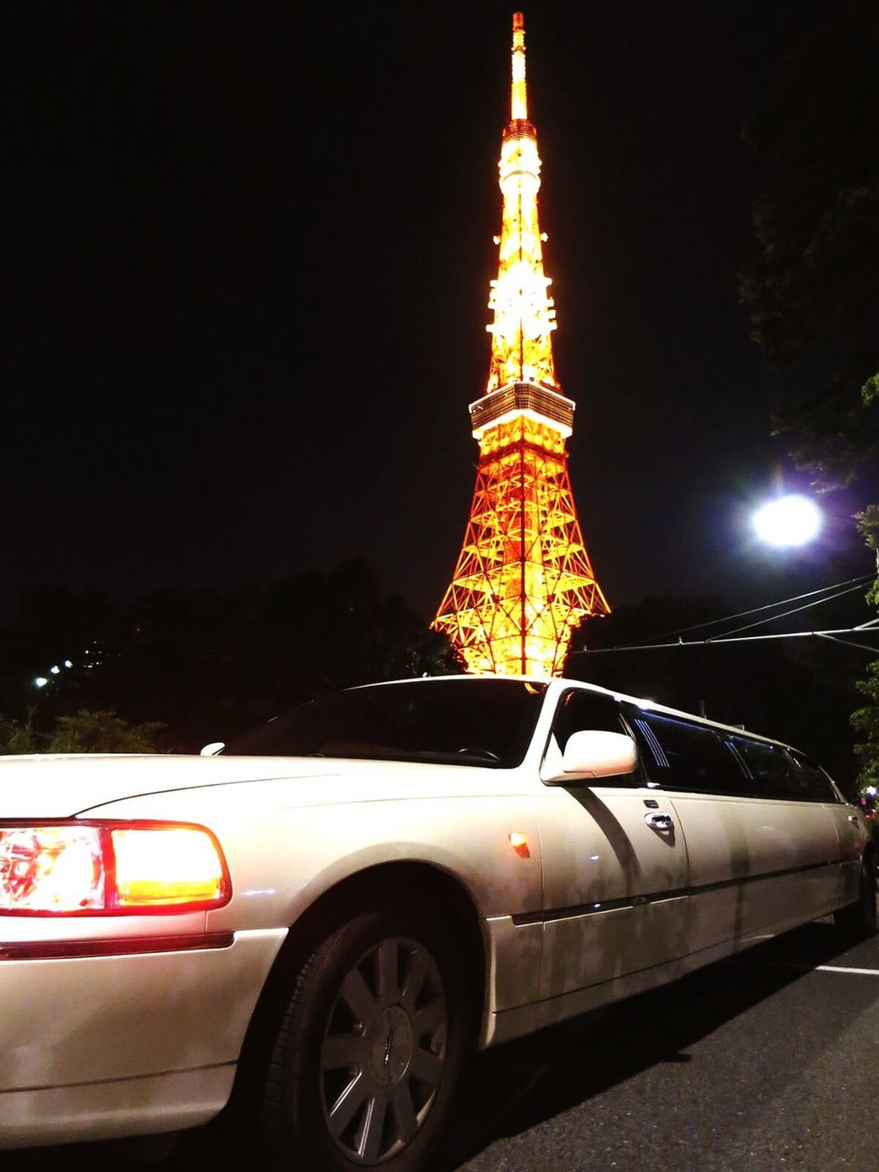 東京タワー 東京 日本 Japan リムジン Car Night Transportation Land Vehicle Mode Of Transport Illuminated No People Outdoors Architecture