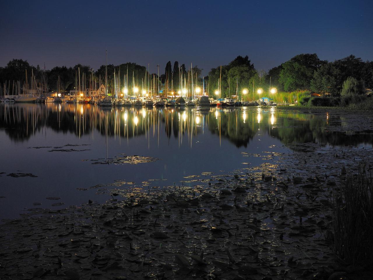 Night Lake Water No People Reflection Nightphotography Night Sky Scharfe Lanke Berlin