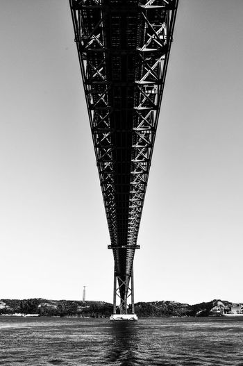 Architecture Bridge - Man Made Structure Built Structure Clear Sky Day Low Angle View Nature No People Outdoors Sea Sky Transportation Water Waterfront