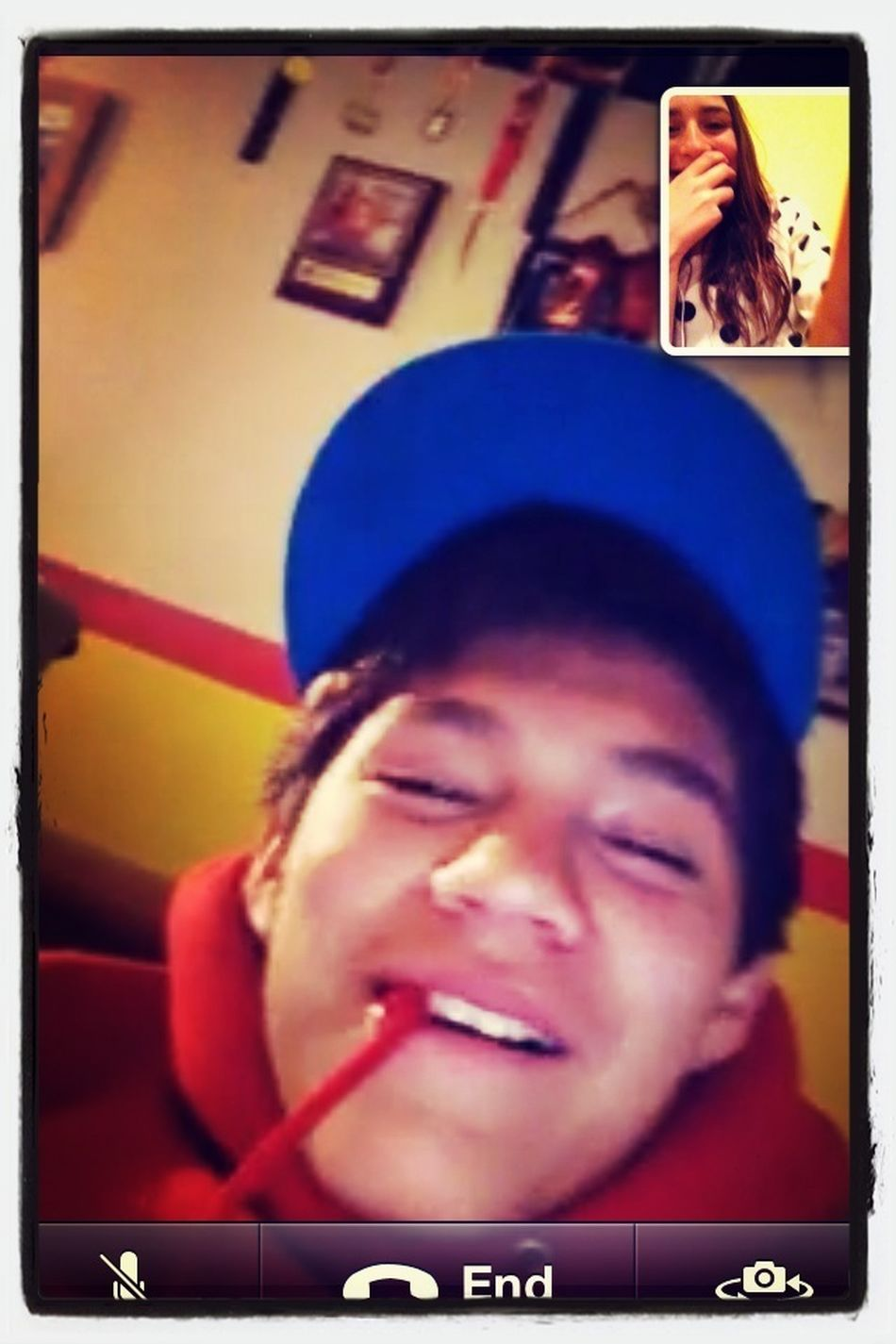 Facetiming With Him (: