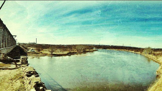 Taking Photos Bridge Riverside Spring