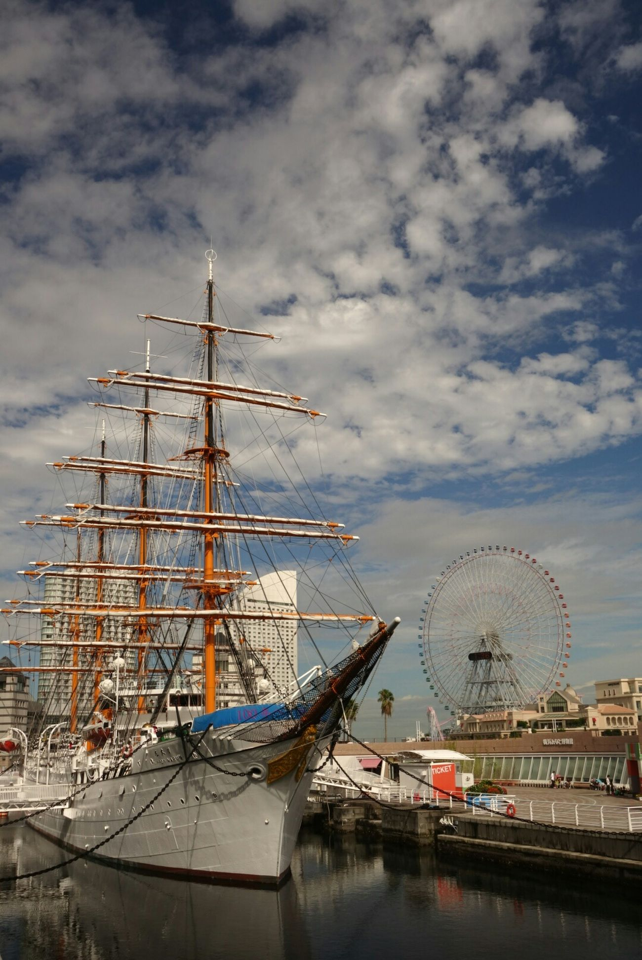 Blue Sky Ship Bigwheel Relaxing Japan Nihonmaru