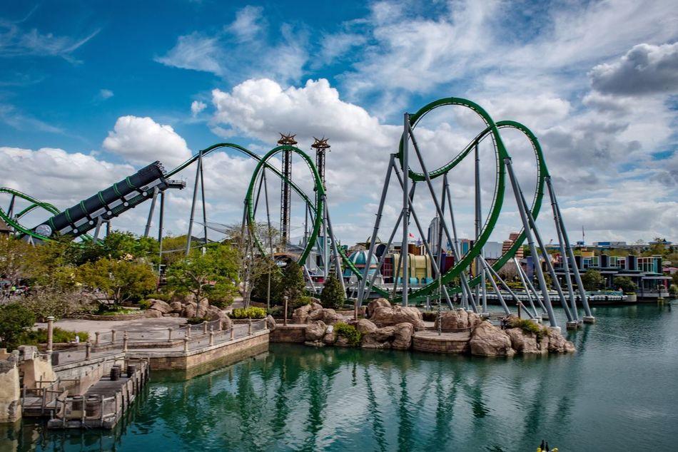 Sky Theme Park Outdoors Cloud - Sky No People Bridge - Man Made Structure Day