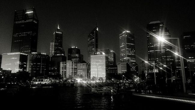Perth city skyline in black and white Perth Perth City Skyline Night Lights Scenic Elizabethquay Black And White Showcase: February