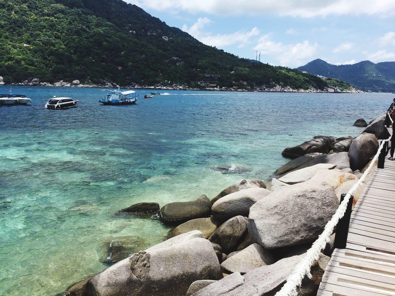 Nature Water Sea Beautiful Travel Koh Tao Koh Nangyuan National Park Tour