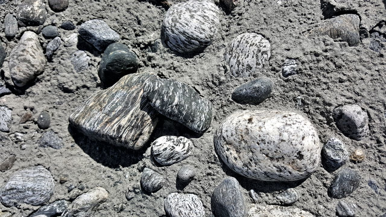 pebble, no people, beach, outdoors, day, nature, close-up, pebble beach