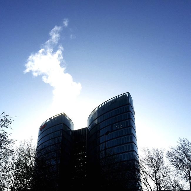Eon building. Sky Architecture Building Skyscraper Sky And Clouds Steam Smoke Lookingup