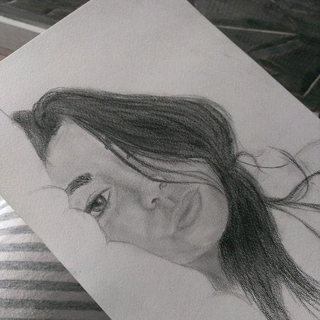 Inprogress Trying Selfportrait Pencil drawing
