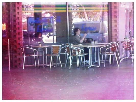 People watching at Northcote Plaza by Pedah