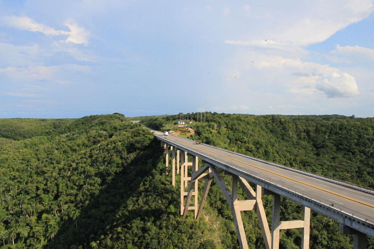 A Bird's Eye View Bridge Bridge - Man Made Structure Bue Sky Clouds And Sky
