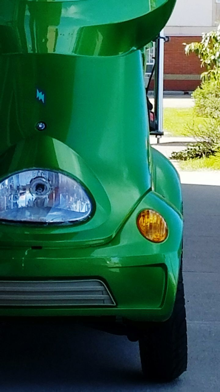 green color, car, no people, close-up, day, outdoors