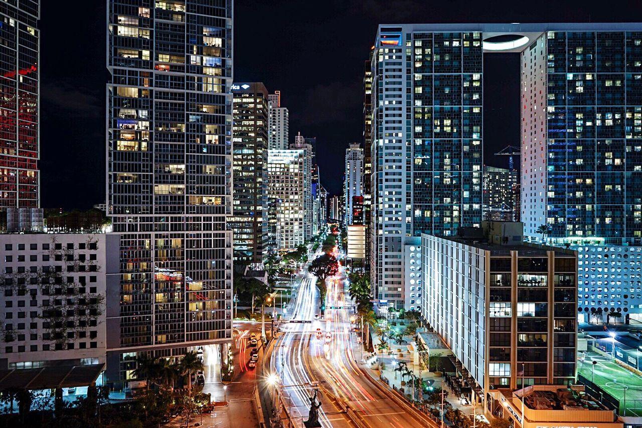 Miami Miami, FL Miami Nights Night Lights Nightlife Nightphotography Light Trails Embrace Urban Life
