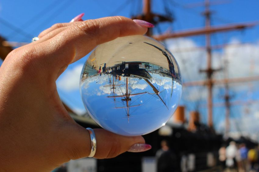 Human Hand Real People One Person Focus On Foreground Holding ship No People boat Day Architecture Built Structure Outdoors Sky People