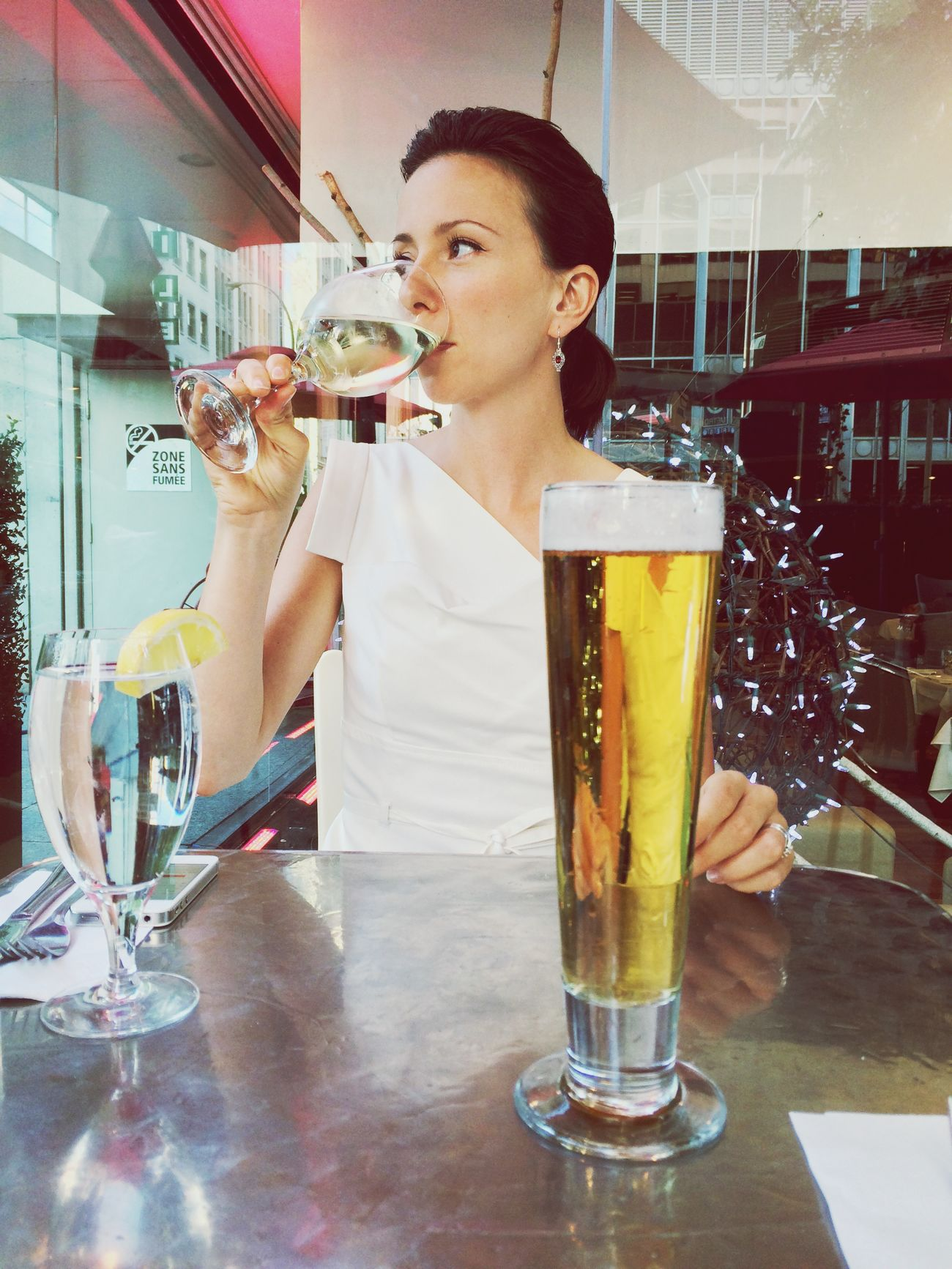 My muse, my wife, with wine and beer Terrace Family Summer Montréal Quebec Canada The Week On EyeEm