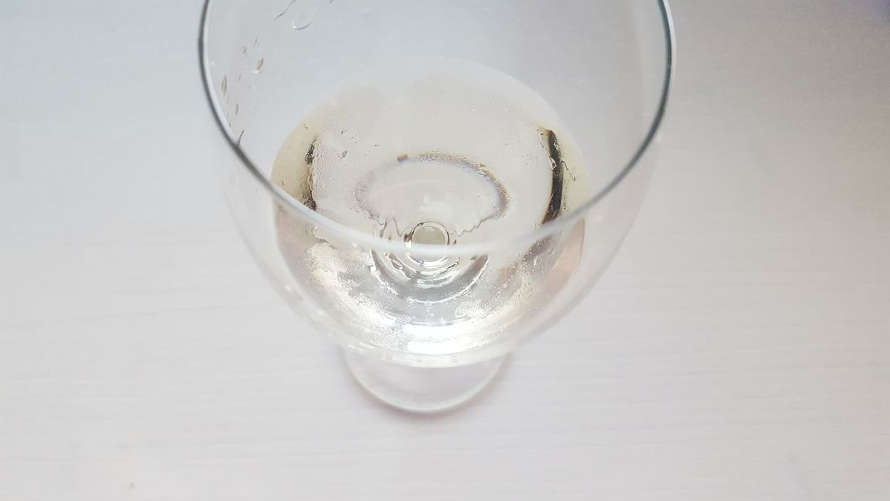 Drinking Glass Drink Refreshment Food And Drink White Background Table Horizontal Alcohol Freshness Relax Cold Reflektion From Above  Tabletop White Table White Wine Sterile Wineglass Wine