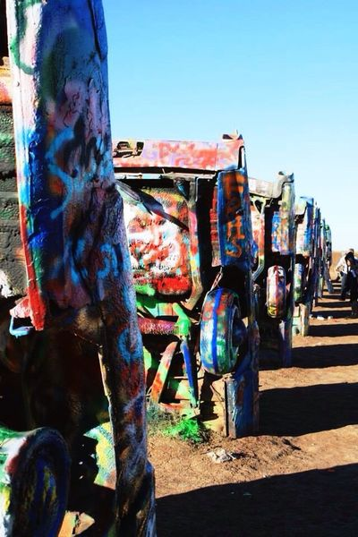 Cadillac Ranch Amarillo, TX Art Texas Graffiti Colour