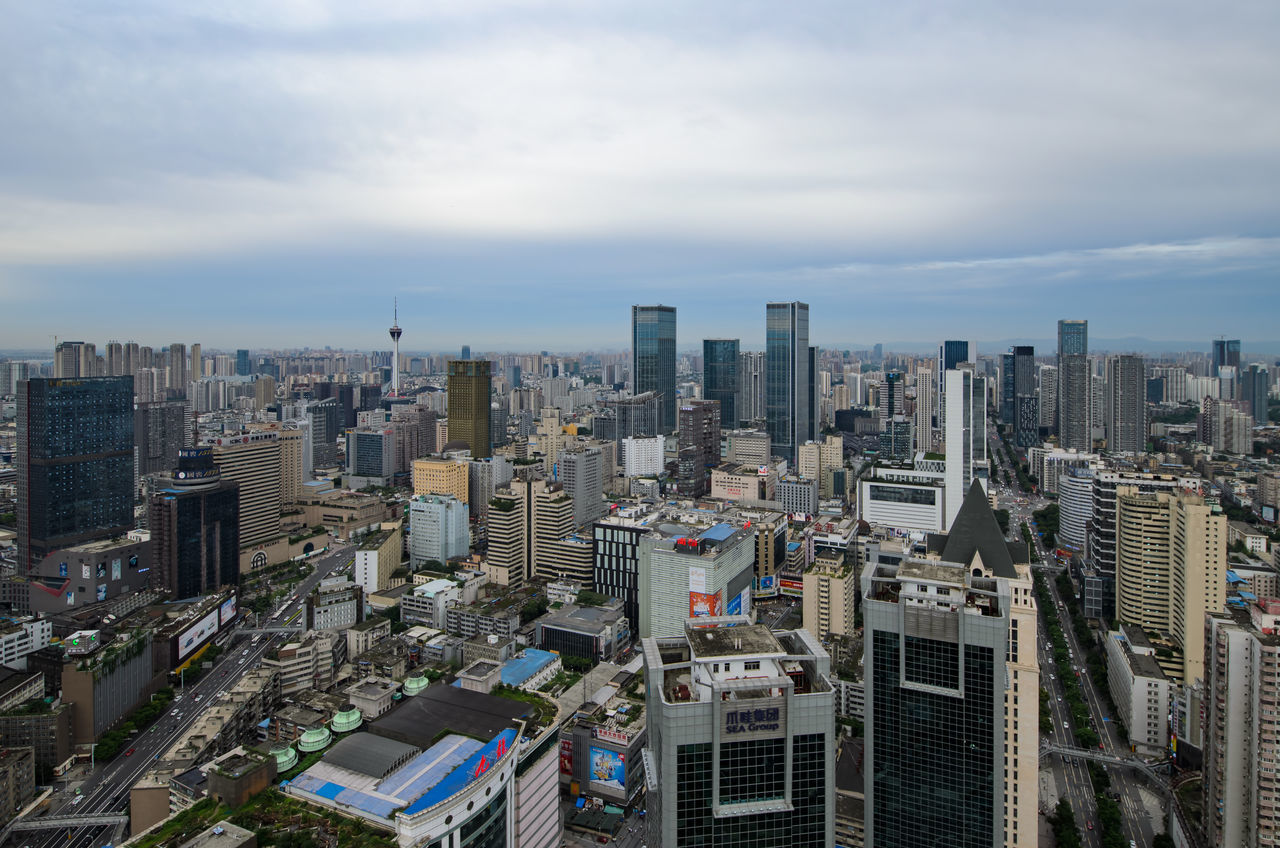 Beautiful stock photos of skyscrapers,  Building Exterior,  Chengdu,  China,  City