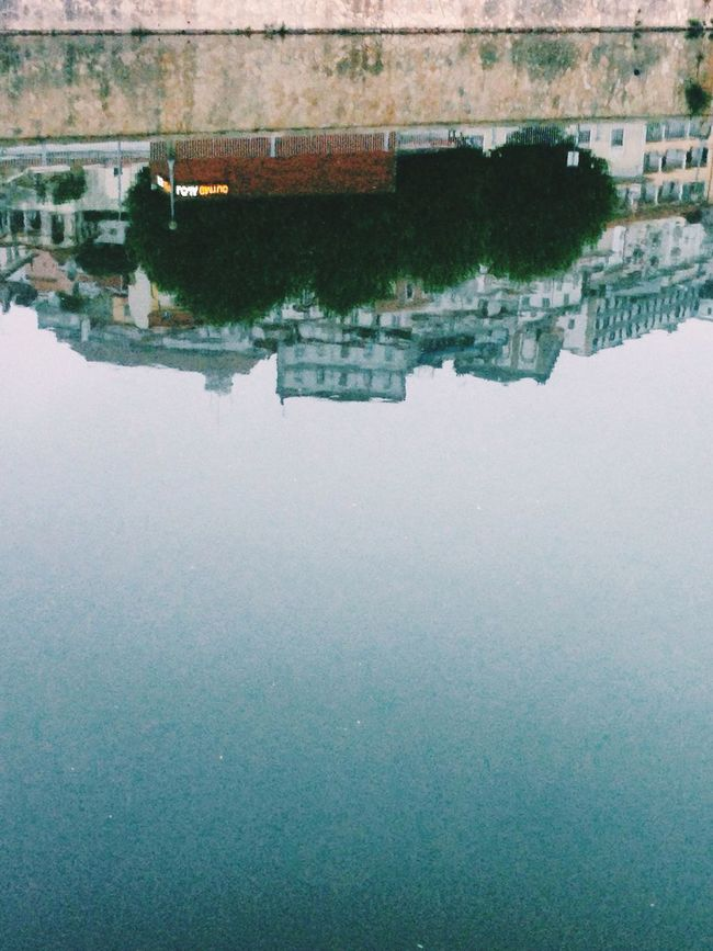 Learn & Shoot: Balancing Elements Mondego Mirror Effect River Coimbra University Iphone5s Sunrise