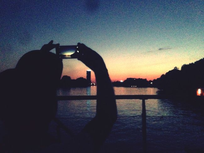 People Watching Soaking Up The Sun Water Reflections Mobile Love The Great Outdoors - 2016 EyeEm Awards Taking Photos Hanging Out Enjoying Life Boottrip People Watching Sunset My Fuckin Berlin