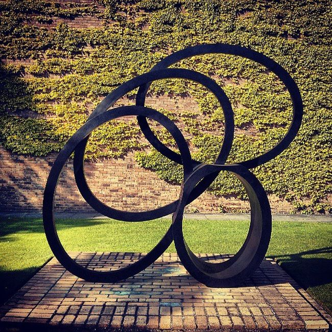 """""""I am fascinated by the way geometry can be discerned in landscape"""" - Nigel Hall RA Contemporary Art Sculpture Churchillcollege cambridge"""