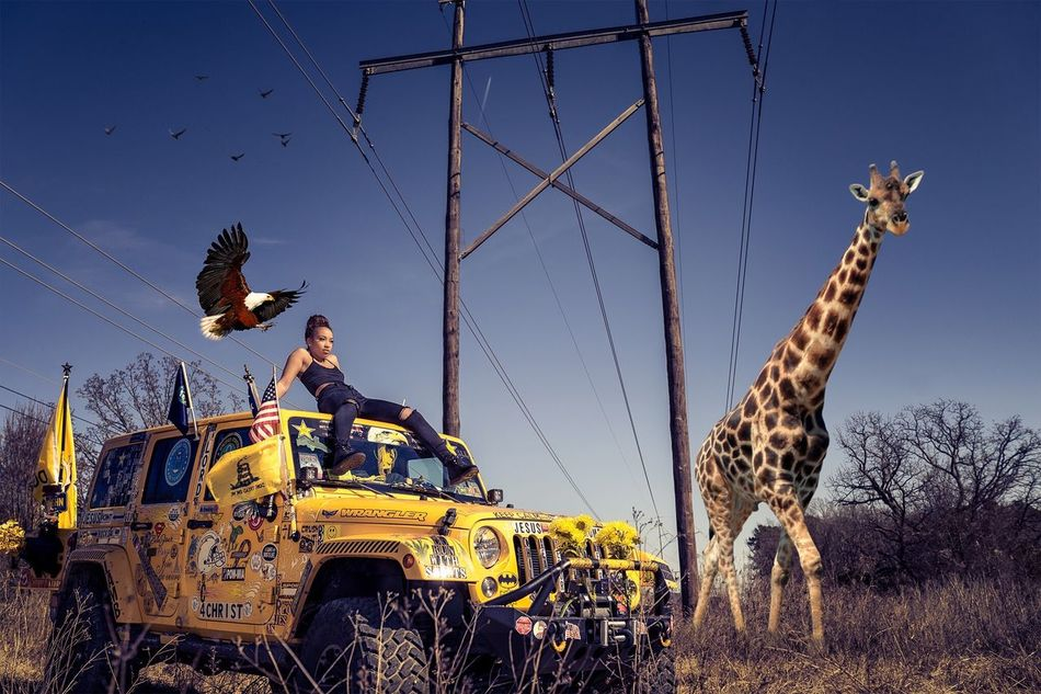 Just Vibin' Vibes Photooftheday Photography Photoshop Giraffe Jeep Wrangler Arkansas First Eyeem Photo