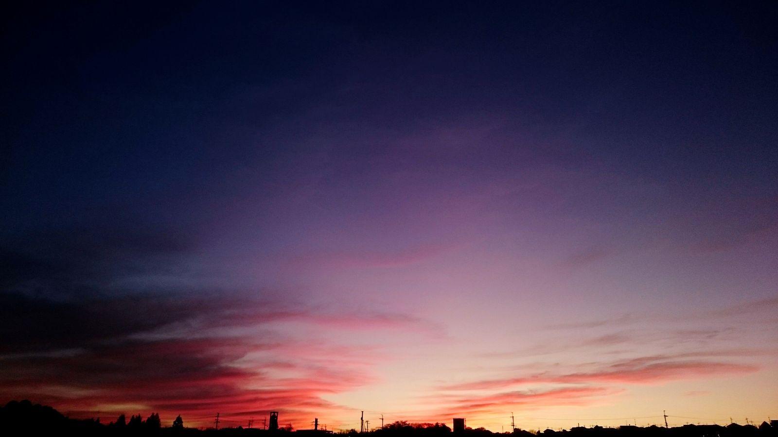 夕焼け。 Sony Xperia Z3 自然 冬 冬空 太陽 夕陽 ゆうひーず ゆうやけこやけ部 ゆうひ 夕焼けこやけ ゆうやけ